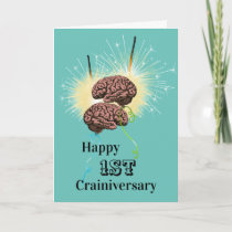 Brain balloons sparklers crainiversary celebration card