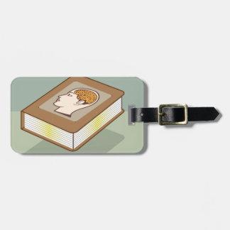 Brain book bag tag