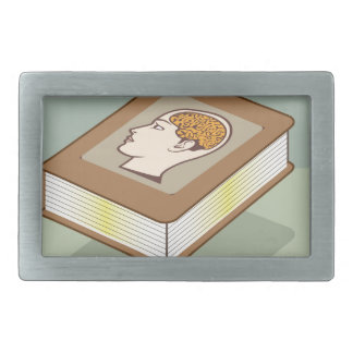 Brain book belt buckle