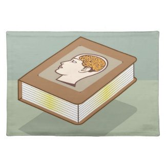 Brain book placemat