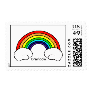 Brain Bow Postage Stamps