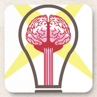 Brain bulb coaster