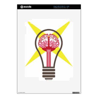 Brain bulb decal for the iPad 2