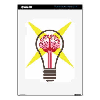 Brain bulb iPad 3 skins