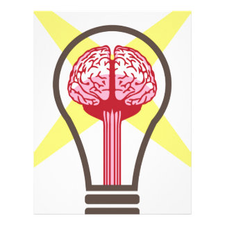 Brain bulb letterhead
