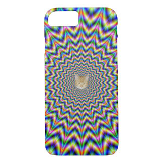Brain Busting Web + or - Cat iPhone 8/7 Case
