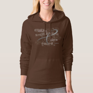 Brain C Hope Ladies Hoodie