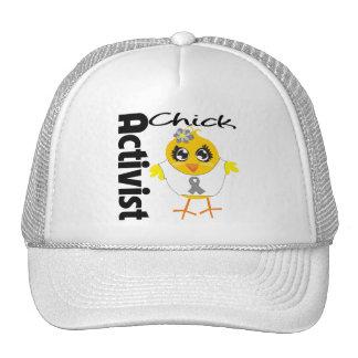 Brain Cancer Activist Chick Trucker Hat