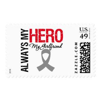 Brain Cancer Always My Hero My Girlfriend Stamp