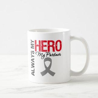 Brain Cancer Always My Hero My Partner Classic White Coffee Mug