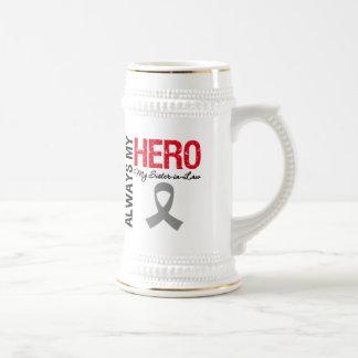 Brain Cancer Always My Hero My Sister-in-Law 18 Oz Beer Stein