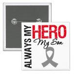 Brain Cancer Always My Hero My Son Button