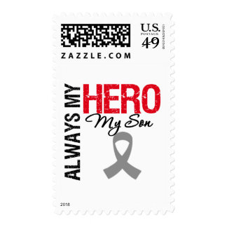 Brain Cancer Always My Hero My Son Postage Stamp