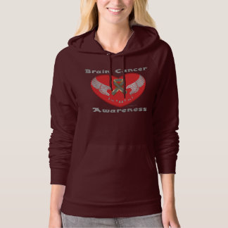 Brain Cancer Aware Ladies Hoodie