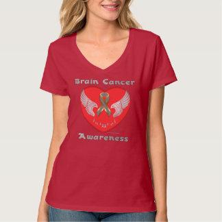 Brain Cancer Aware Ladies Nano V-Neck T-Shirt