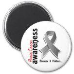 Brain Cancer Awareness 5 Fridge Magnet