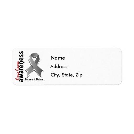 Brain Cancer Awareness 5 Label