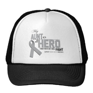 Brain Cancer Awareness: aunt Trucker Hat