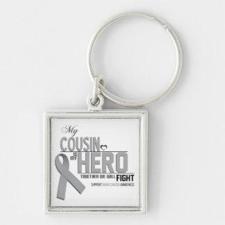 Brain Cancer Awareness: cousin Keychain