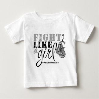 Brain Cancer Awareness Fight Like a Girl Tshirts