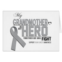 Brain Cancer Awareness: grandmother Card