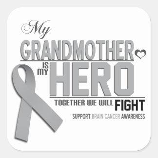 Brain Cancer Awareness: grandmother Square Sticker