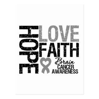Brain Cancer Awareness Hope Love Faith Postcard