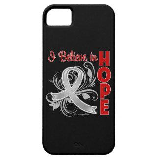 Brain Cancer Awareness I Believe in Hope iPhone 5 Case