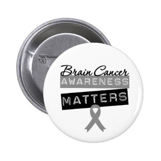 Brain Cancer Awareness Matters 2 Inch Round Button