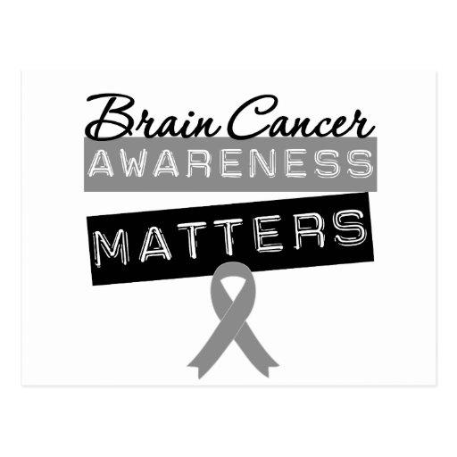 Brain Cancer Awareness Matters Postcard