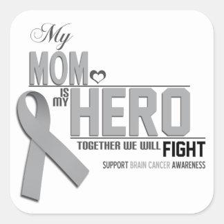 Brain Cancer Awareness: mom Square Sticker