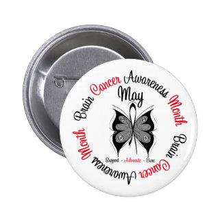 Brain Cancer Awareness Month Circular Buttons