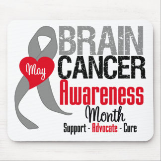 Brain Cancer Awareness Month Mouse Pad