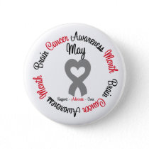 Brain Cancer Awareness Month Pinback Button
