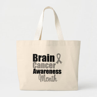 Brain Cancer Awareness Month Ribbon Canvas Bags