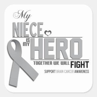 Brain Cancer Awareness:  niece Square Sticker
