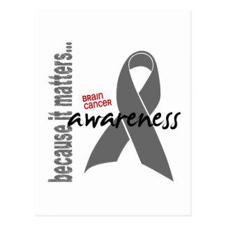 Brain Cancer Awareness Postcard