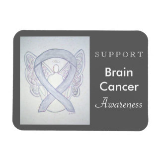 Brain Cancer Awareness Ribbon Angel Custom Magnet
