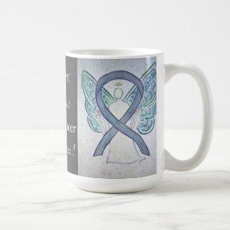 Brain Cancer Awareness Ribbon Angel Custom Mug Basic White Mug