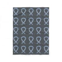 Brain Cancer Awareness Ribbon Fleece Chemo Blanket