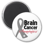 Brain Cancer Awareness Ribbon Refrigerator Magnets