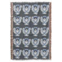 Brain Cancer Awareness Ribbon Throw Blankets
