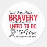 Brain Cancer Battle Sticker
