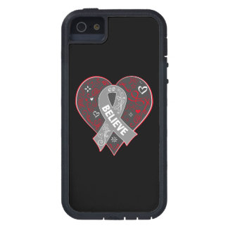 Brain Cancer Believe Ribbon Heart iPhone 5 Cover