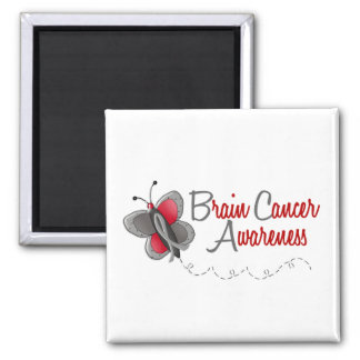 Brain Cancer Butterfly 2 Awareness Magnets