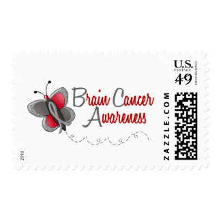 Brain Cancer Butterfly 2 Awareness Postage