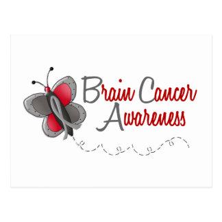Brain Cancer Butterfly 2 Awareness Postcard