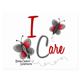Brain Cancer Butterfly 2 I Care Postcard