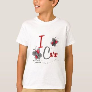 Brain Cancer Butterfly 2 I Care T-Shirt