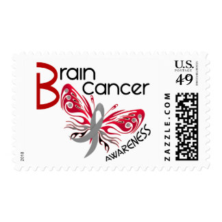 Brain Cancer BUTTERFLY 3 Awareness Postage